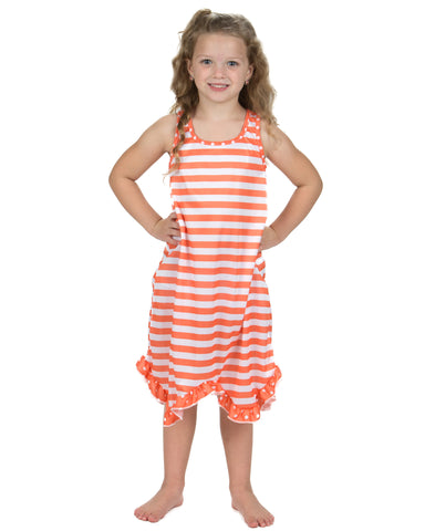 Laura Dare Tangerine Dreams Racerback Nightgown (4-14)
