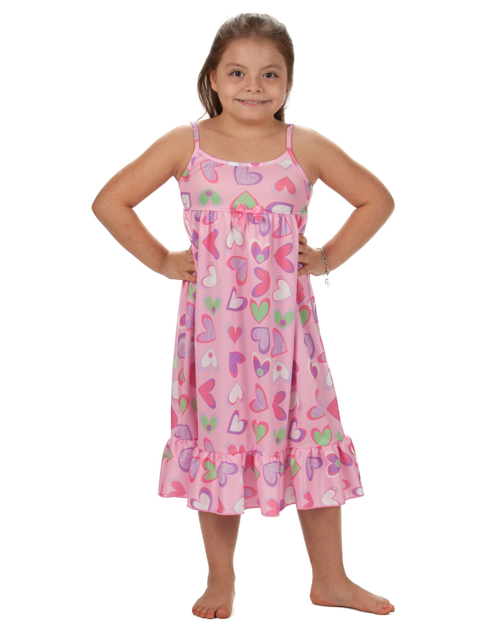 Laura Dare Heart To Heart Spaghetti Strap Nightgown (2T - 14)