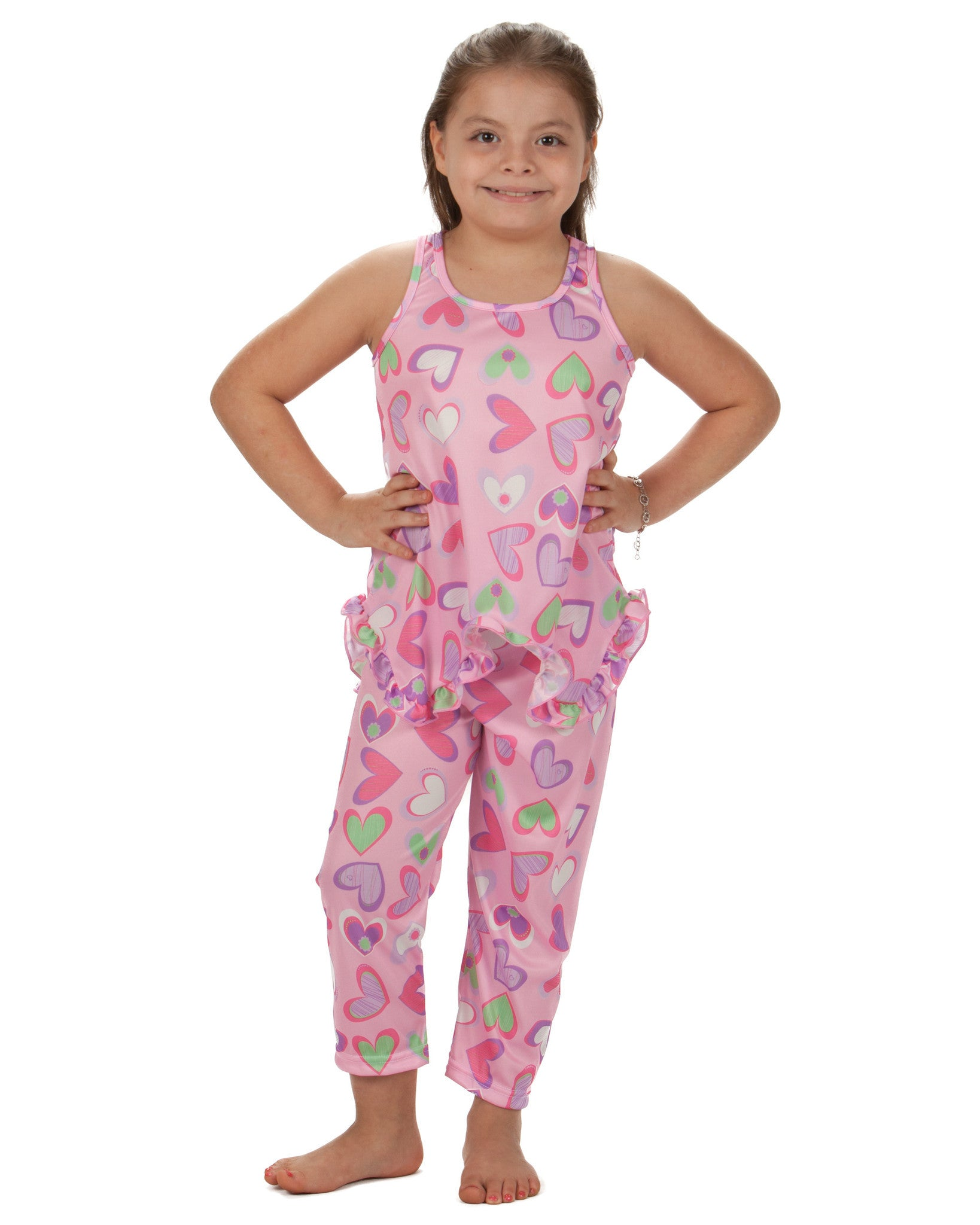 Laura Dare Heart To Heart Racerback Pajama (2T - 14)