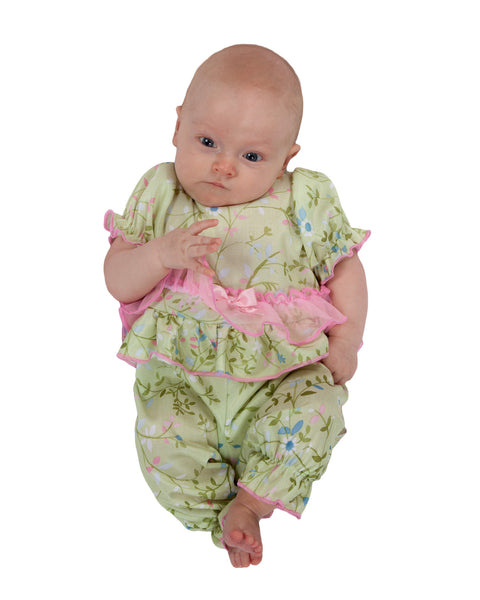Laura Dare Garden Fairy Frilly Jumpsuit (NB - 24m)