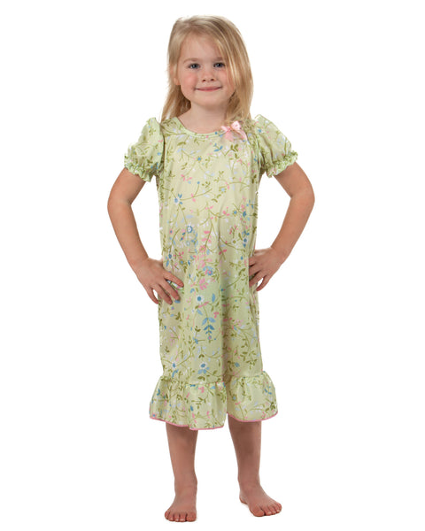 Laura Dare Garden Fairy Nightgown (2T - 14)