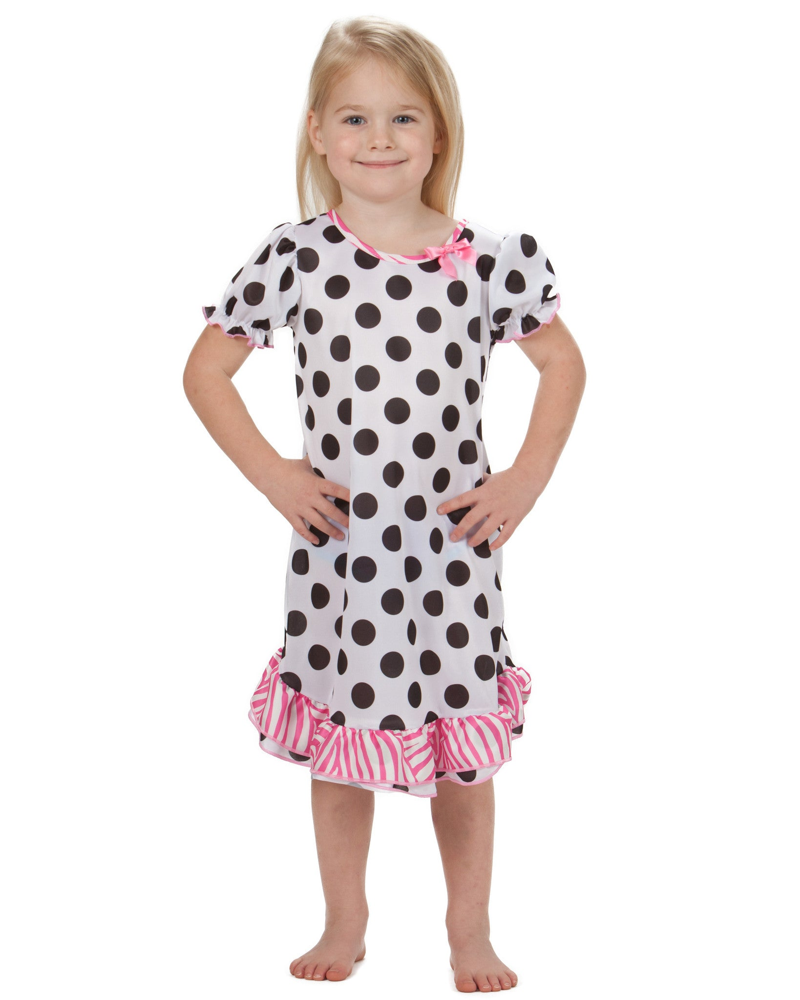 Laura Dare Connect The Dots Puff Sleeve Nightgown (6m - 10)