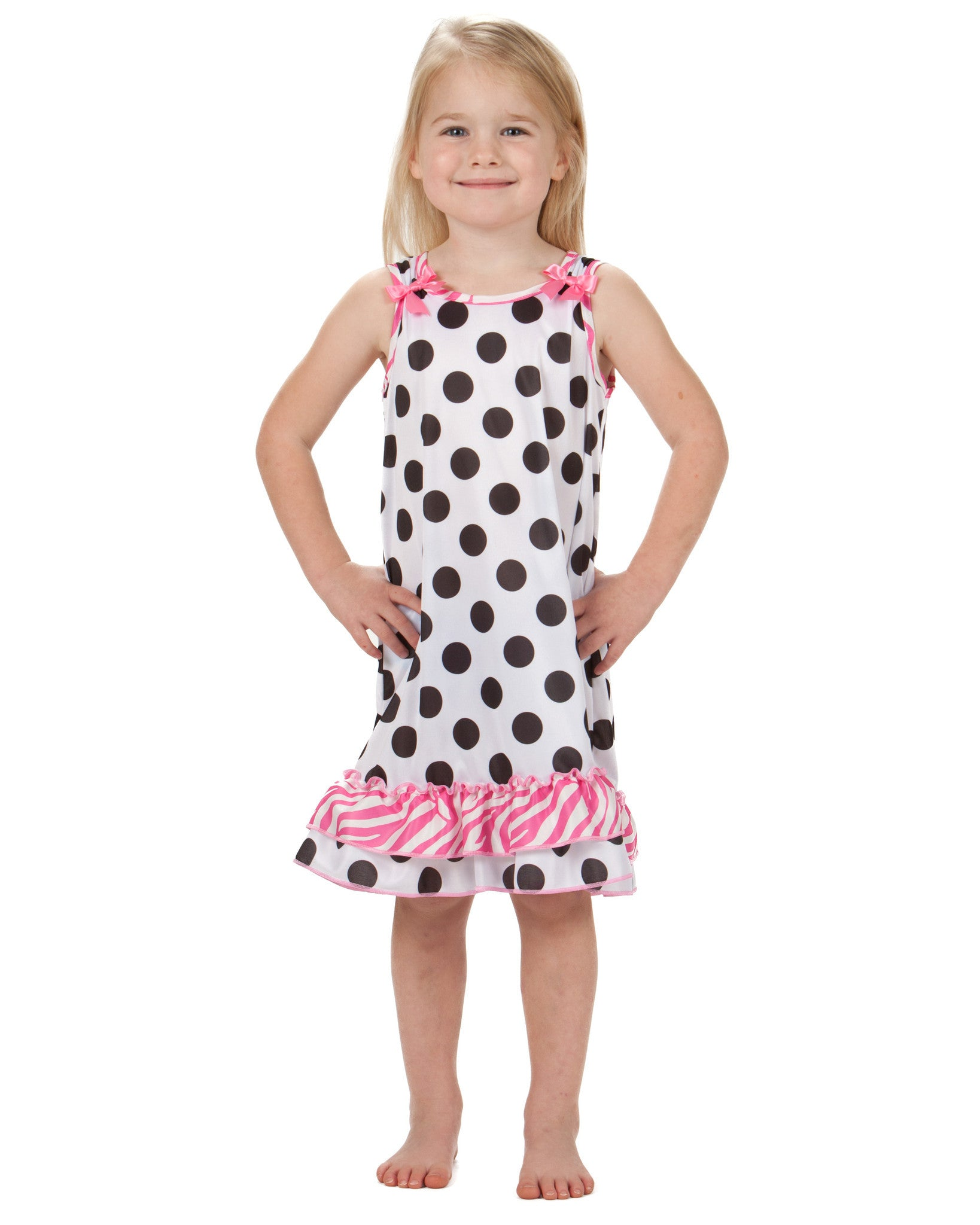 Laura Dare Connect The Dots Bow Top Nightgown (2T - 10)