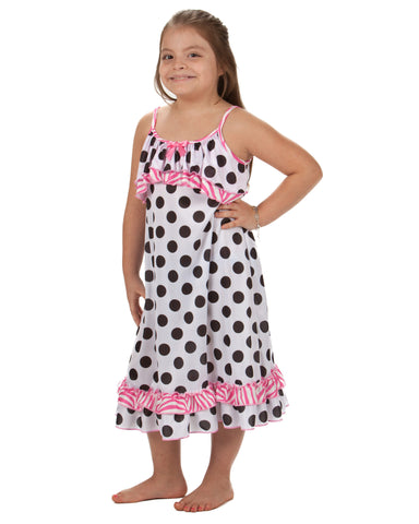 Laura Dare Connect The Dots Spaghetti Strap Nightgown (2T - 14)