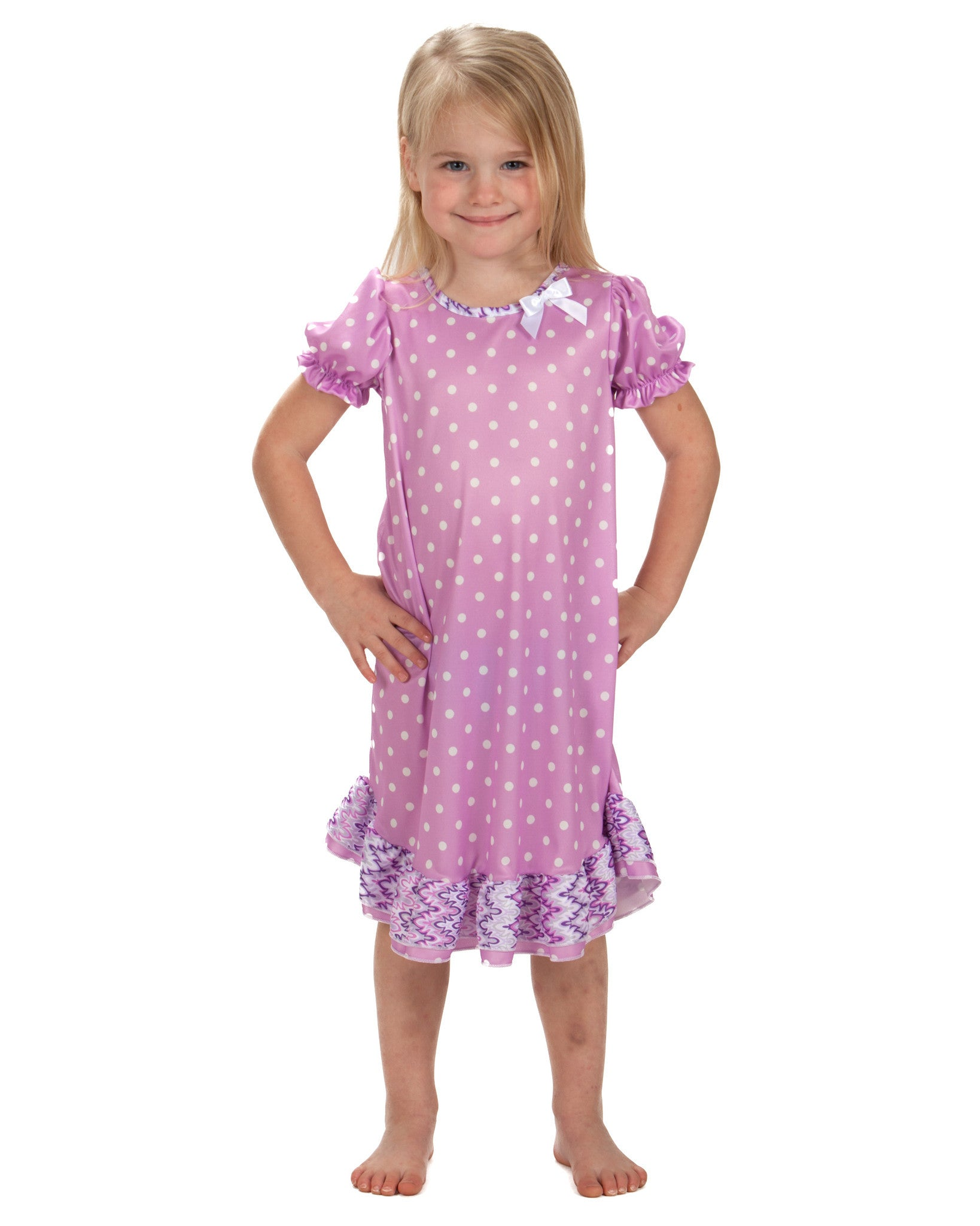 Laura Dare Uptown Girl Puff Sleeve Nightgown (6m - 10)
