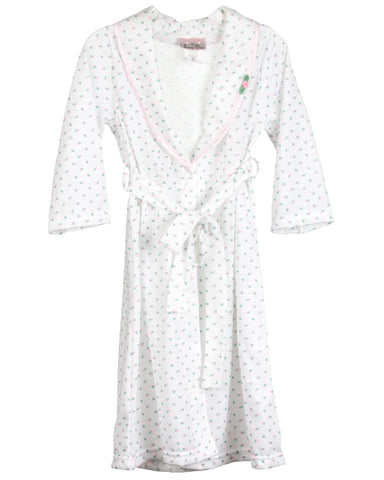 Girls Rosebud Jersey Bath Robe Wrap (2T-14)