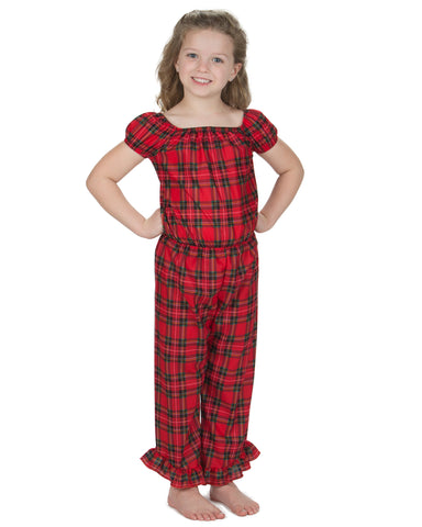 Laura Dare Holiday Plaid 1 Piece Romper (2T - 14)