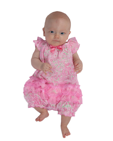 Laura Dare Blossoms Frilly Romper (NB - 24m)