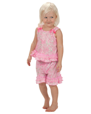 Laura Dare Blossoms Bow Top  Pajama Set (12m - 10)