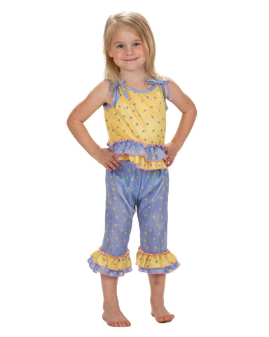Laura Dare Butter Cup Tie Shoulder Pajama Set (6m - 10)