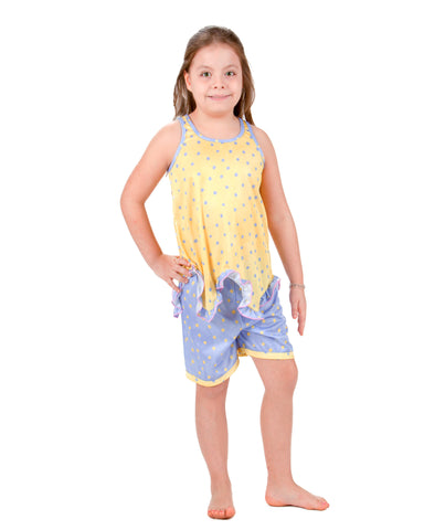 Laura Dare Butter Cup Racerback Pajama Short Set (2T - 14)