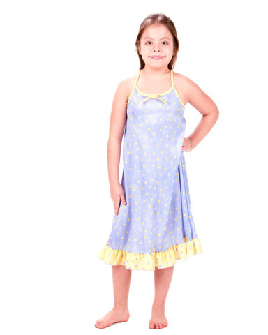 Laura Dare Butter Cup Spaghetti Strap Nightgown (4 - 14)
