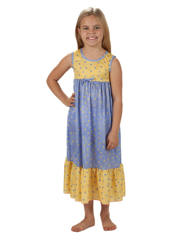 Laura Dare Butter Cup Maxi Nightgown (2T - 14)