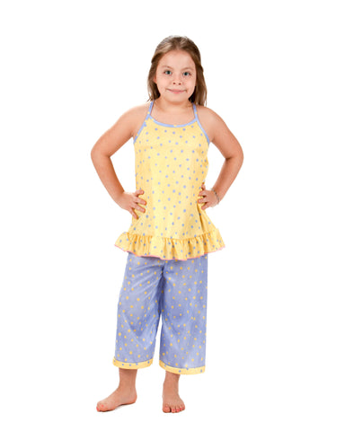 Laura Dare Butter Cup Racerback Pajama Set (4 - 14)