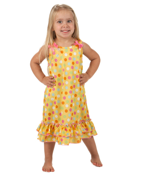 Laura Dare Sprinkles Bow Top Nightgown (2T - 10)