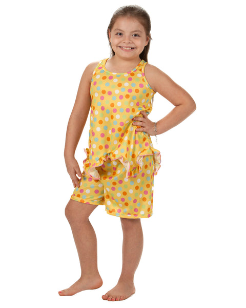 Laura Dare Sprinkles Racerback Pajama Short Set (2T - 14)