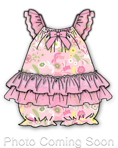 Laura Dare Wildflowers Frilly Romper (NB-24m)
