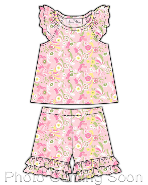 Laura Dare Wildflowers Short Pajamas