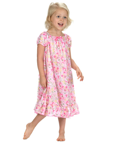 Laura Dare Wildflowers Puff Sleeve Nightgown (12m-14)