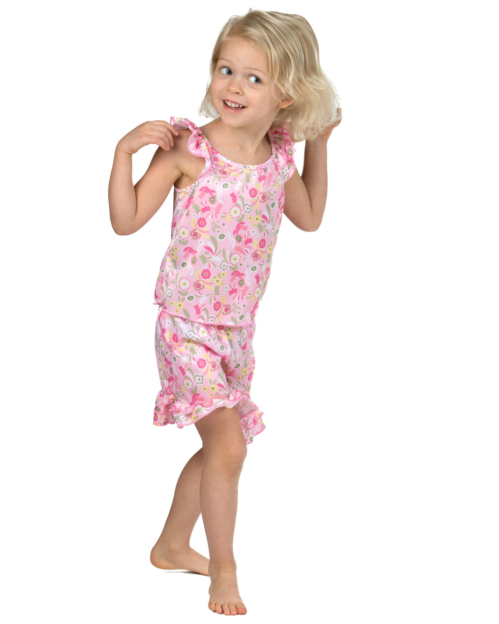 Laura Dare Wildflowers Short Pajamas (6m-6x)