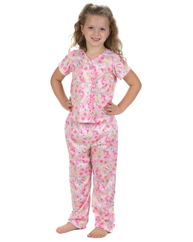 Laura Dare Wildflowers Button Front Pajamas (2t-14)