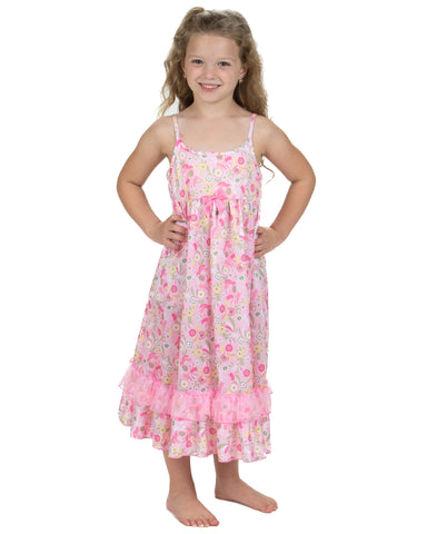 Laura Dare Wildflowers Spaghetti Strap Nightgown (2t-14)