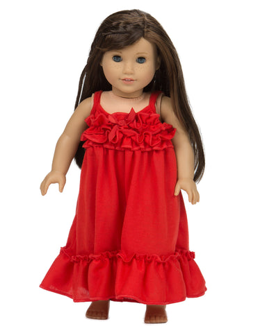 Laura Dare Jersey Matching Strappy Doll Gowns (Solid Colors)