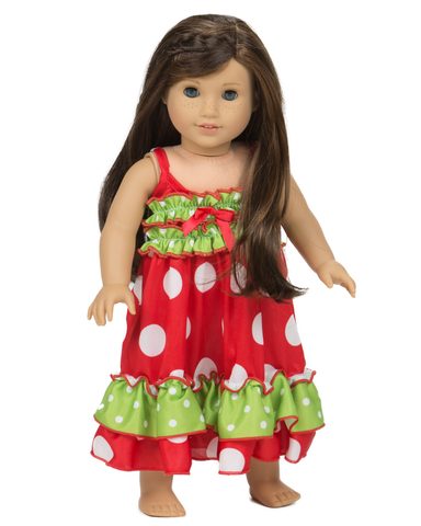 Holiday Wonderland Strappy Doll Gown
