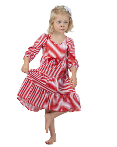 Laura Dare Candy Cane Tiered Nightgown (12m - 10)