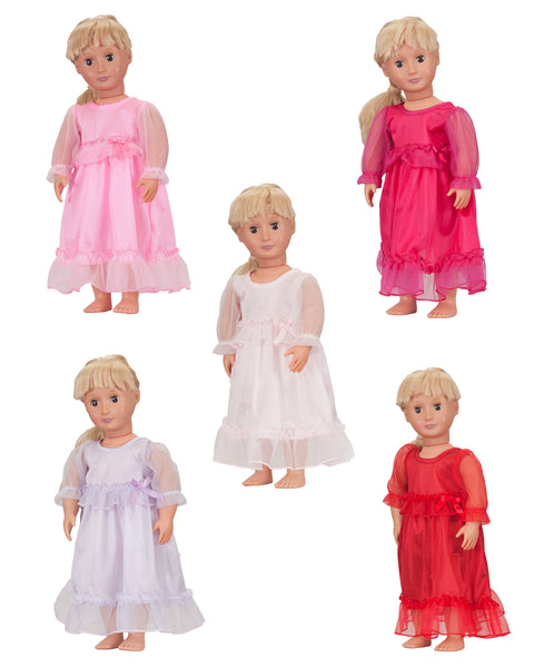 Pastel Perfection Doll Gown (5 different color options)