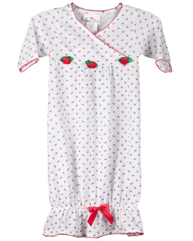 Infant Girls Holiday Rosebud Sacque (NB-6m)