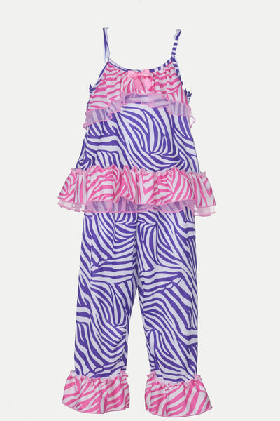 Laura Dare Slumber Party Zebra Strappy Pajama