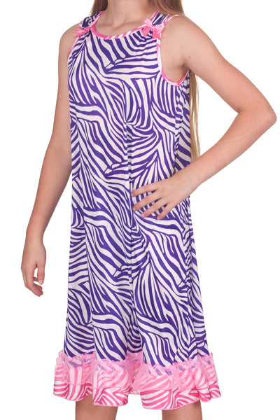 Laura Dare Slumber Party Zebra Bow Top Gown