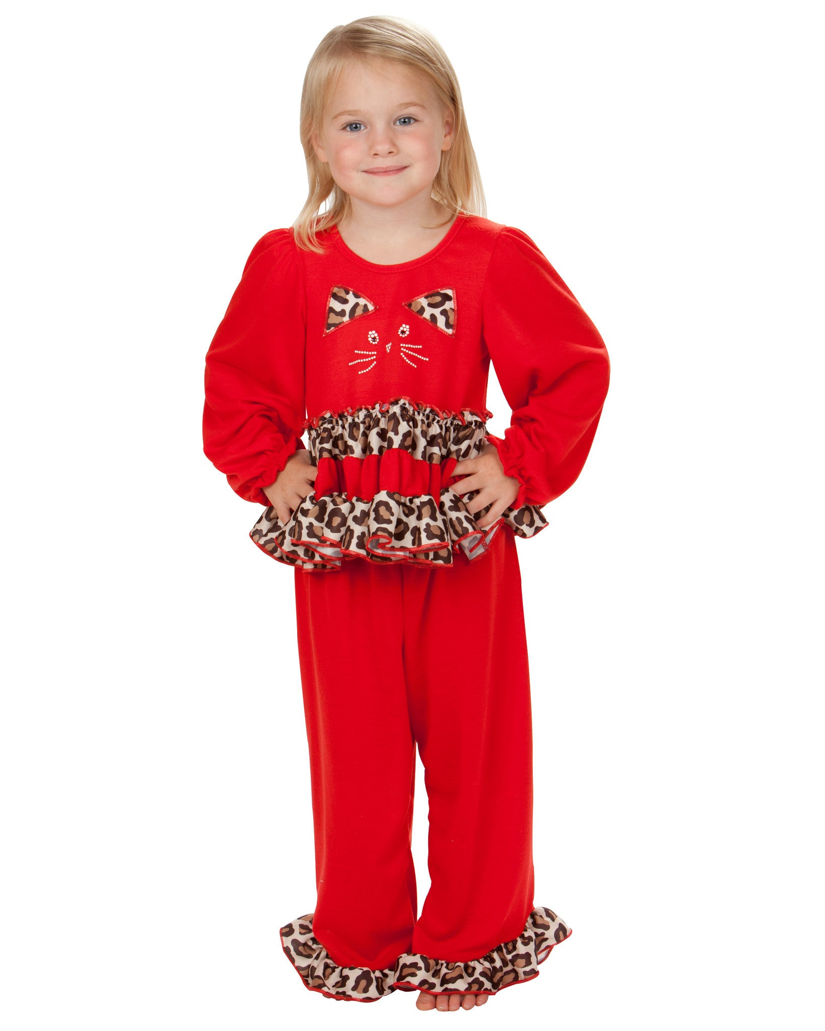 Laura Dare Marvelous Meow Ruffled Pajama