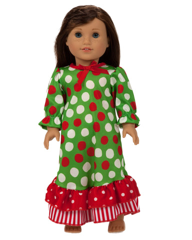 Laura Dare Santa Dots Doll Gown