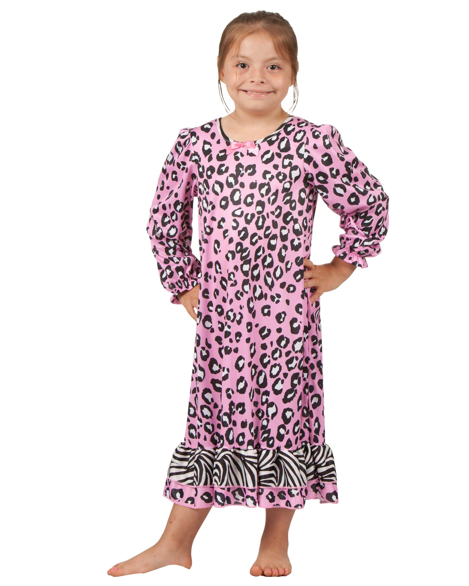 Laura Dare Zazzy Zebra Long Sleeve Nightgown