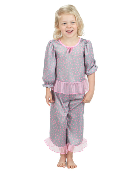 Laura Dare Sweet Heart Long Sleeve Pajama Set