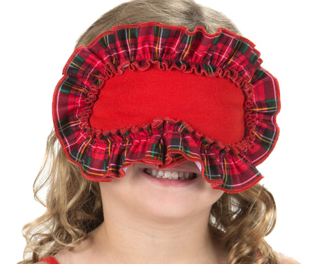 Laura Dare Holiday Tartan Plaid Children's Sleep Mask