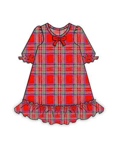Laura Dare Holiday Tartan Plaid Doll Nightgown