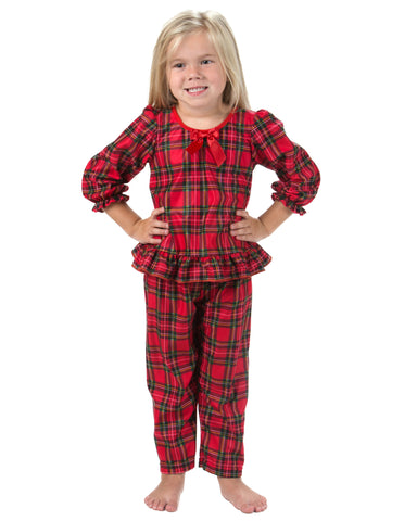 Laura Dare Holiday Tartan Plaid Long Sleeve Pajamas (12m-14)