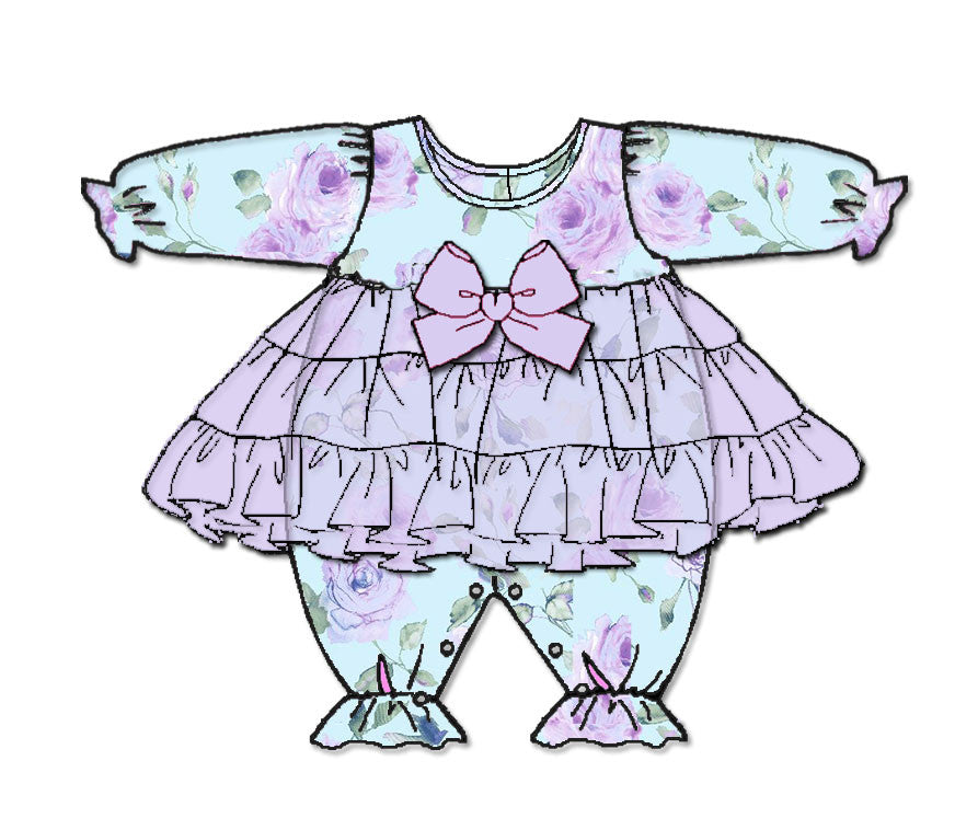 Laura Dare Gracious Elegance Frilly Jumpsuit (NB-24m)