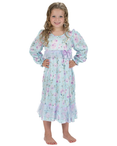 Laura Dare Gracious Elegance Long Sleeve Nightgown (12m-14)