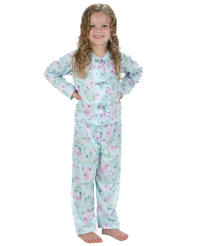 Laura Dare Gracious Elegance Button Front Pajamas (2T-14)