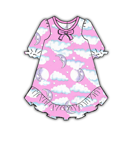 Laura Dare Pink Sleepy Moon Doll Nightgown
