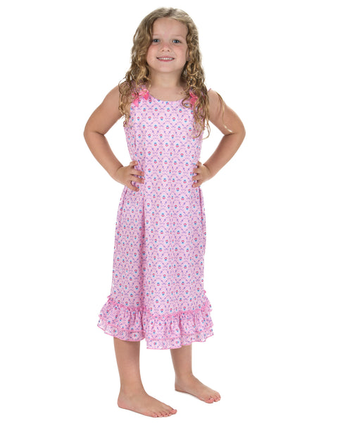 Laura Dare Petite Fleur Bow Top Nightgown