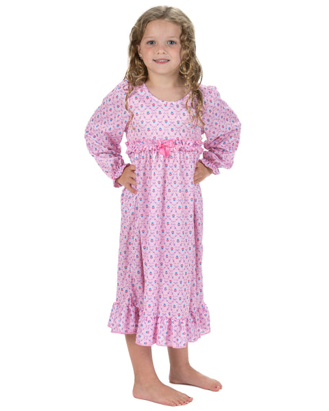 Laura Dare Petite Fleur Long Sleeve Nightgown