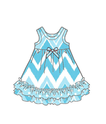 Laura Dare All The Rage Blue Matching Doll Nightgown