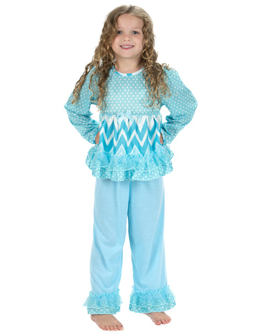 Laura Dare All The Rage Blue Long Sleeve Pajamas (12m-6x)