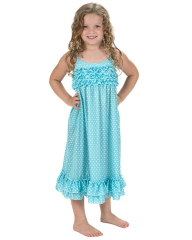 Laura Dare All The Rage Blue Spaghetti Strap Nightgown (2T-14)