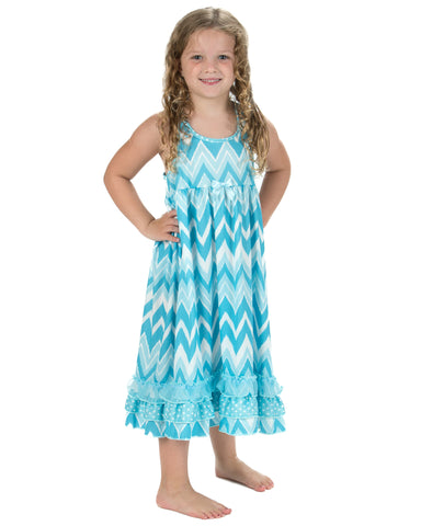 Laura Dare All The Rage Blue Racerback Nightgown (2T-14)